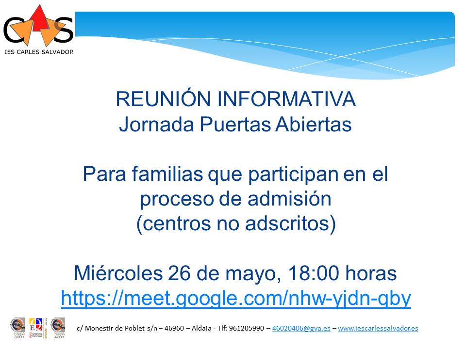 REUNION INFORMATIVA_6º_2021-22_Cast_NO_ADSCRITS